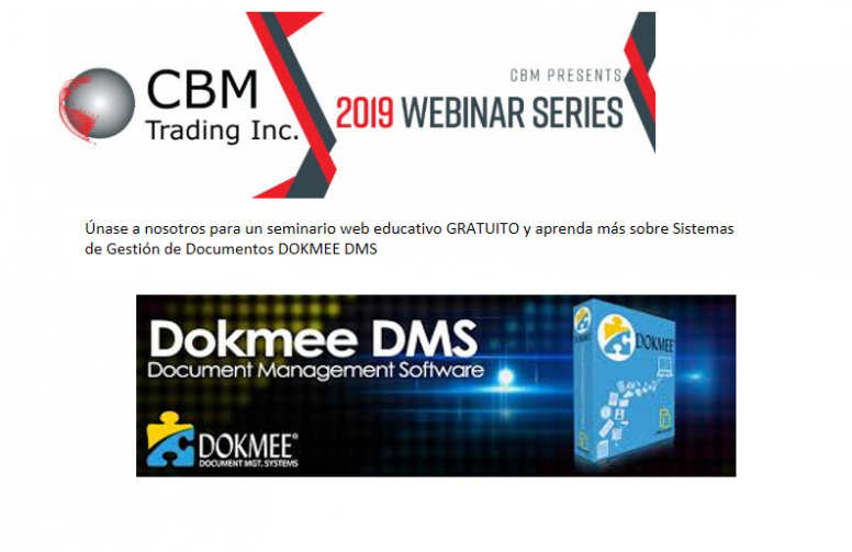 SERIES WEBINAR 2019 . SOFTWARE DE GESTION DE DOCUMENTOS DOKMEE DMS