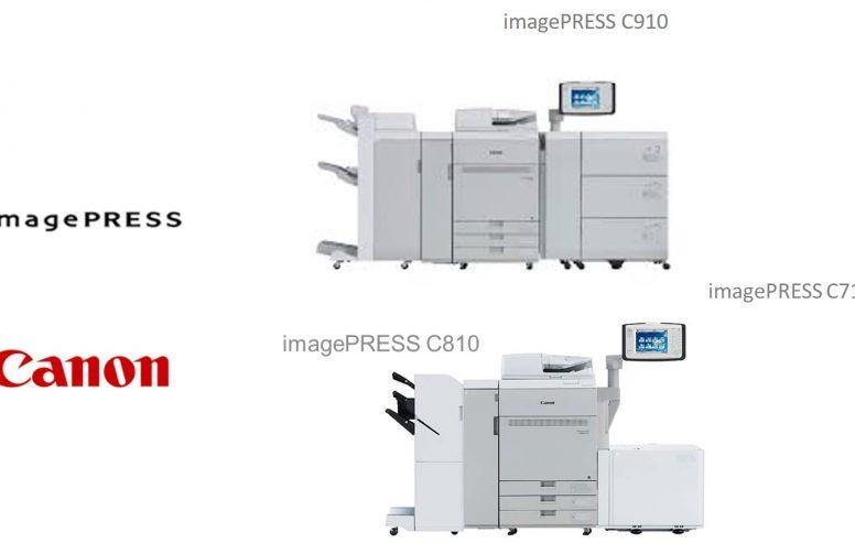 Nueva Serie de Impresoras Digitales de Color CANON ImagePRESS C910/C810/C710